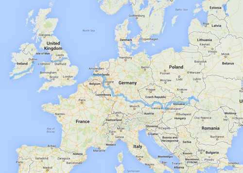E8-route Ierland - Polen